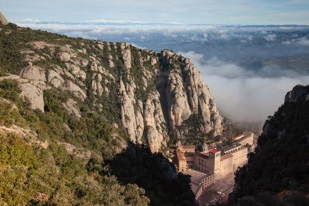 Santa Maria de Montserrat is a Benedictine abbey located on the mountain of Montserrat, in Catalonia, Spain Editorial