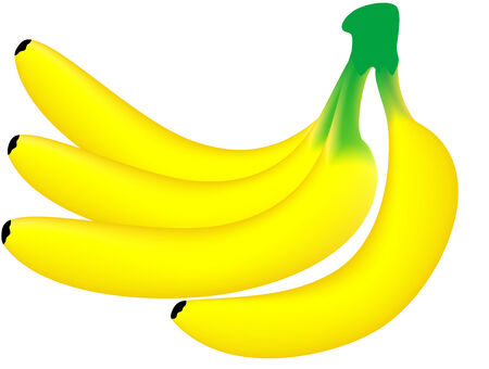 ailment: Vector illustration of yellow ripe banana, isolated