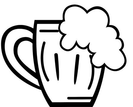 tankard: Beer tankard, isolated. Vector illustration  Illustration