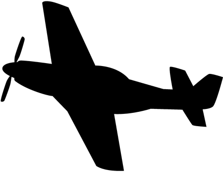 Vector illustration of black aeroplane silhouette, isoleted