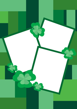 Beautiful border for pictures with clover, vector illustration Stock Vector - 6552040