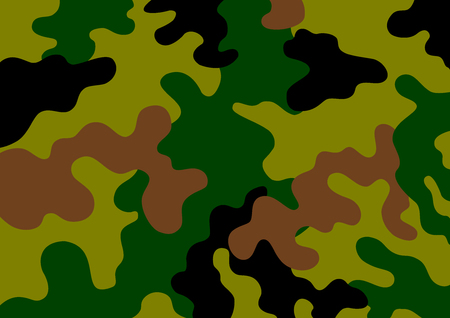 military uniform: Camouflage - Protective background, clothes for the soldier. Vector illustration.