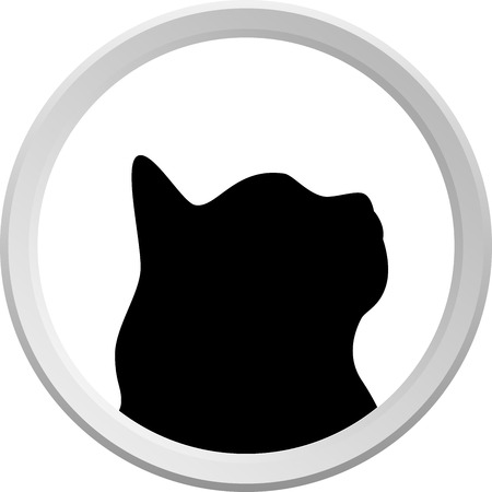 This is Logo cat or cat button, Isolated. Vector illustration Stock Vector - 6552113