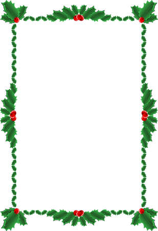 Christmas decoration ornament with holly berry Vector