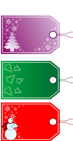 Beautiful Christmas Gift Tags in Different Designs Stock Vector - 6636397