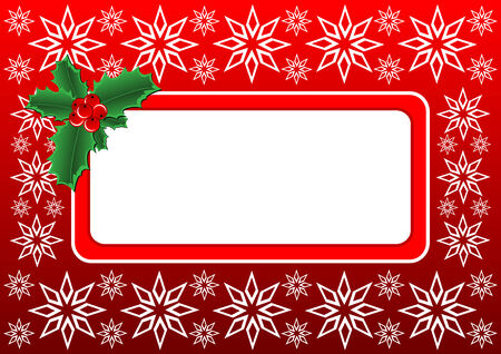 Vector illustration - Christmas banner with a space for text message Ilustração