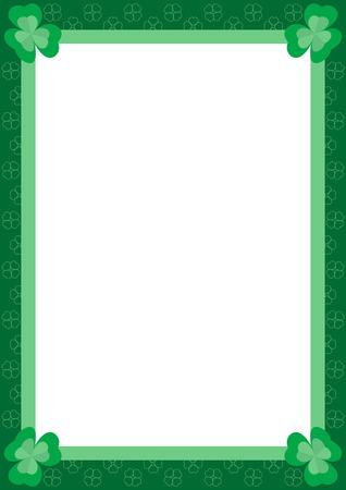 verdant: Beautiful frame with  green clover, vector illustration Illustration