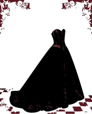 evening gown: Black gothic dress