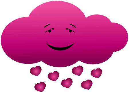 cloud in love Vector