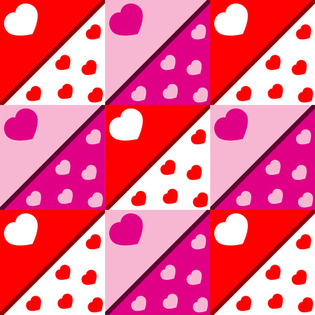 hearts and strips Vector