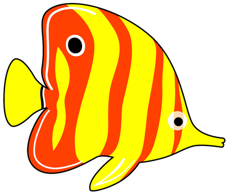 a cute exotic fish, isolated Stock Vector - 6771956