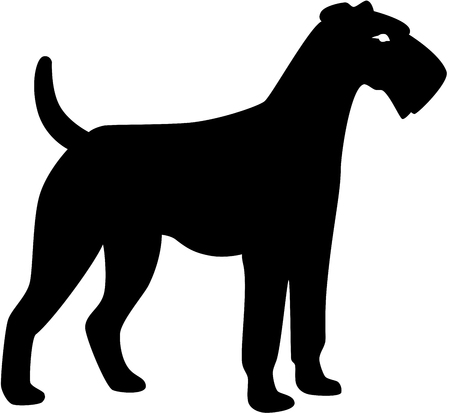 a black dog silhouette, isolated Stock Vector - 6771952