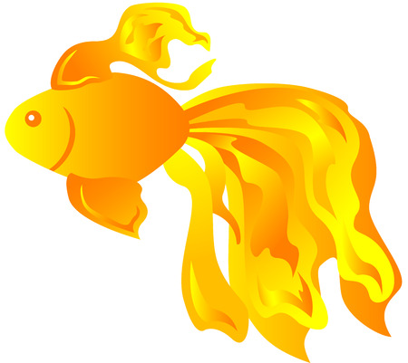 a cute fish isolated Vector