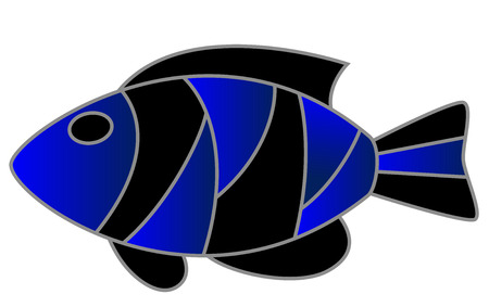 a cute exotic fish, isolated Vector