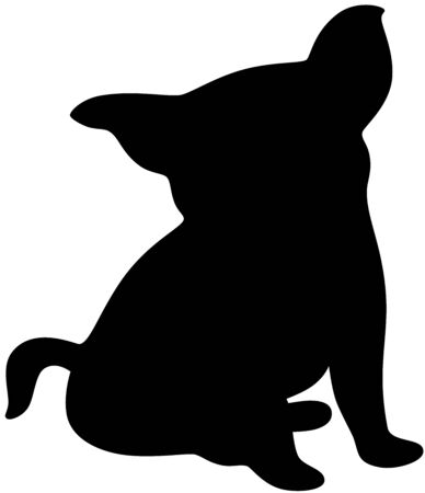Illustration of a funny dog silhouette, isolated Stock Vector - 6771972