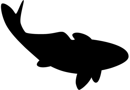 Black fish silhouette Vector