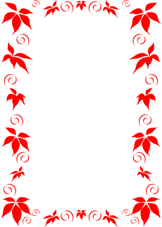 framing: This is red floral frame