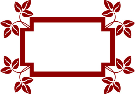 edging: This is floral frame, isolated.  illustration