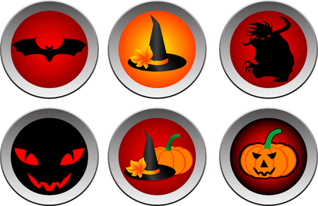 bewitchment: Hallooween drink coasters or label that can be used separately. illustration. Illustration