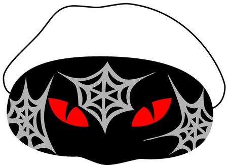 scaring: A beautiful carnival mask for Halloween party, isolated.  illustration.