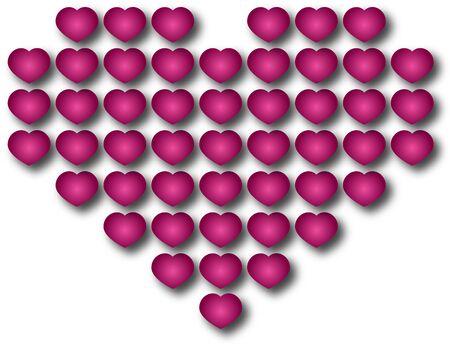 Beautiful cartoon  illustration of romantic heart  illustration