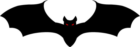 A black vampire bat flying Stock Vector - 7296023