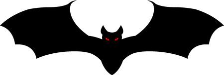 A black vampire bat flying Иллюстрация