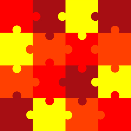 This is jigsaw color puzzle pattern Vector