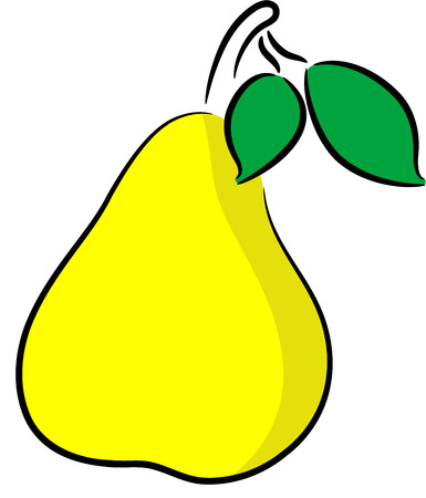 illustration of a ripe pear, isolated