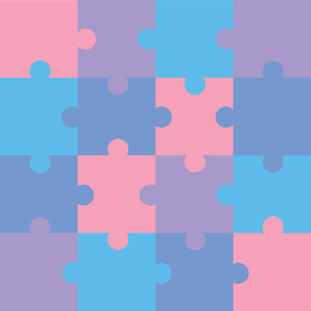 Jigsaw color puzzle pattern Vector