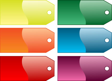 Beautiful Various different coloured gift tags, isolated Stock Vector - 7485466