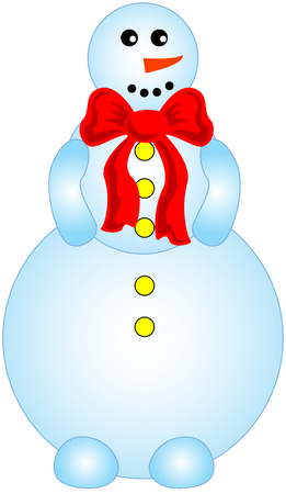 funny vector illustration figure of smailing snowman Vector