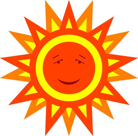 illustration of  smiling cartoon sun, isolated. Stock Vector - 7534154