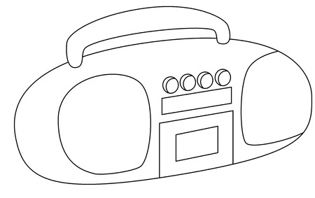 cd recorder: The tape recorder image, isolated.  Illustration