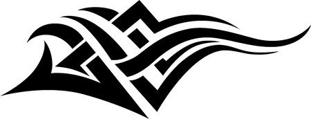 tribali: Nero tatuaggio tribale, isolato.