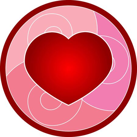 beautiful cartoon illustration of Valentines Day heart  illustration