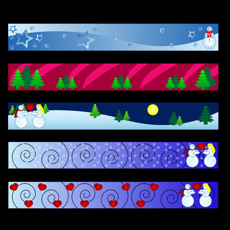 banners with christmas winter theme Vector