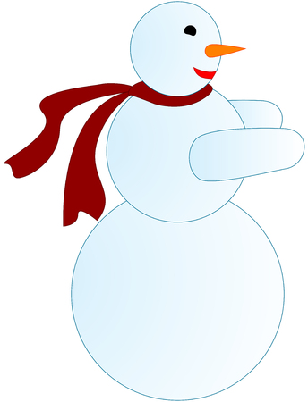 funny illustration figure of smiling snowman Stock Vector - 7542955