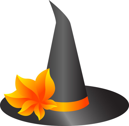illustration of a witch hat for Halloween, isolated Vector