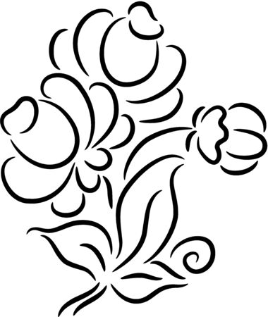 Beautiful   illustration of a flower, isolated Stock Vector - 7547646