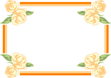 Frame for picture with rose illustration Stock Vector - 7547676