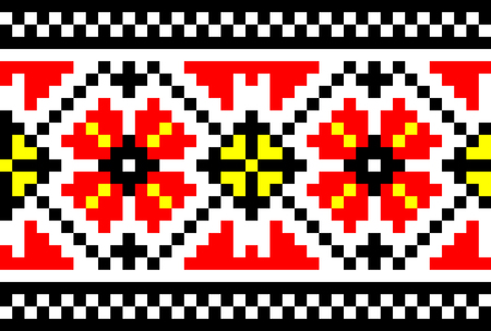 illustration of Ukrainian embroidery ornaments with geometric motives Stock Vector - 7557854