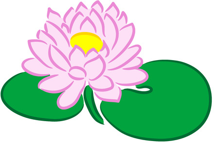 Beautiful illustration of a fresh lotus flower, isolated Stock Vector - 7557841