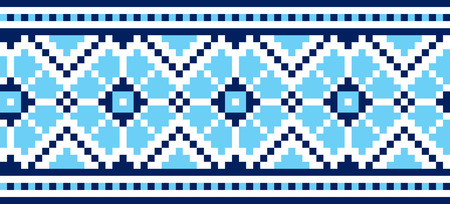 illustration of Ukrainian embroidery ornaments with geometric motives Stock Vector - 7557845