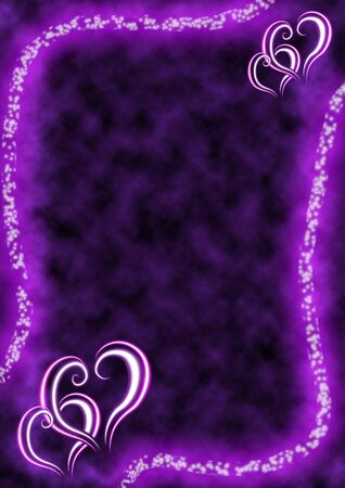 Beautiful composition of hearts on the abstract background photo