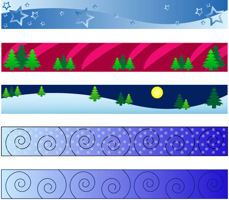 specific:   web banners with christmas winter theme