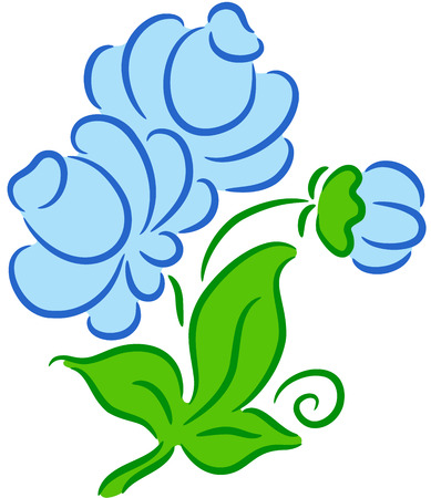 Beautiful  illustration of a flower, isolated Stock Vector - 7557890
