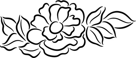 Beautiful illustration of a fresh peony flower, isolated Stock Vector - 7557892