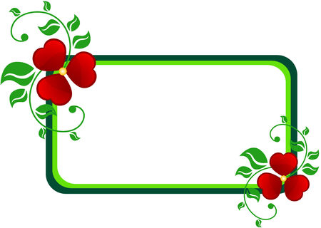 Abstract banner made of abstract flowers and leaf, isolated Vector