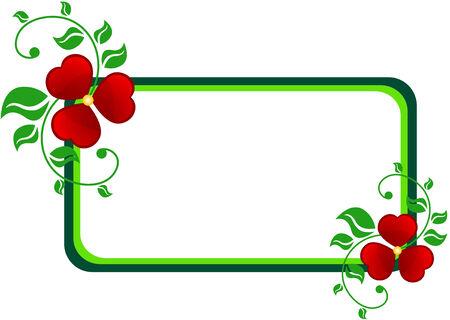 Abstrakt Banner gemacht abstrakt Blumen und Leaf, isoliert